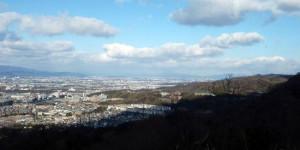 飯盛城趾から京都